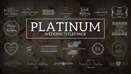 Platinum | Wedding Titles Pack - After Effects Project (Videohive)