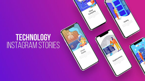 Technology - Instagram Stories - After Effects Project (Videohive)