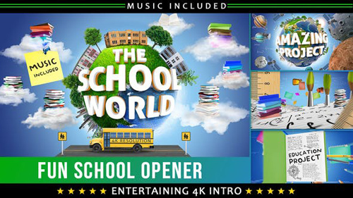 School Education Kids Intro - After Effects Project (Videohive)
