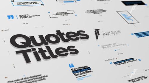 Just Type | Quote Titles - After Effects Project (Videohive)