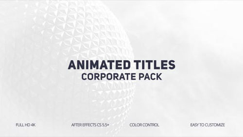Animated Titles - After Effects Project (Videohive)