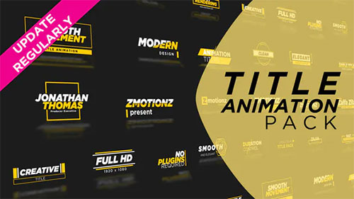 Unique Titles Pack - After Effects Project (Videohive)