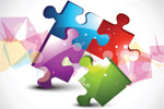 Puzzle Design 2 - Stock Vectors
