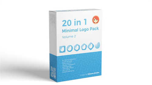 20 in 1 Minimal Logo Pack (vol.2) - After Effects Project (Videohive)