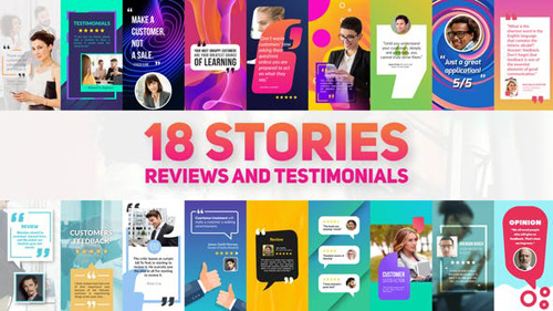 Reviews And Testimonials Insta Pack - After Effects Project (Videohive)